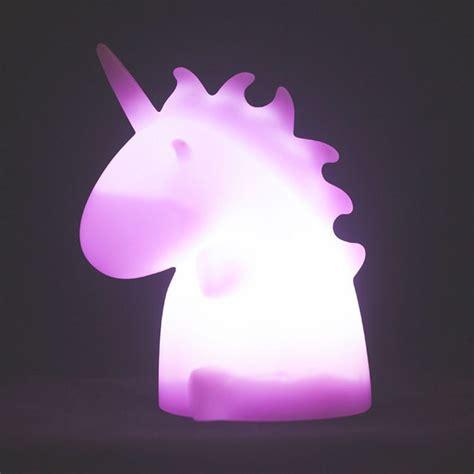 unicorn in light uni unicornio led luz de noche en blanco rosa amarillo con