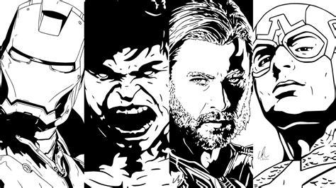 black and white marvel wallpaper coloriage 224 imprimer personnages c 233 l 232 bres comics