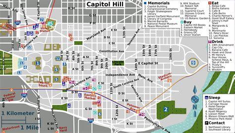 washington dc road map pdf file capitol hill map png