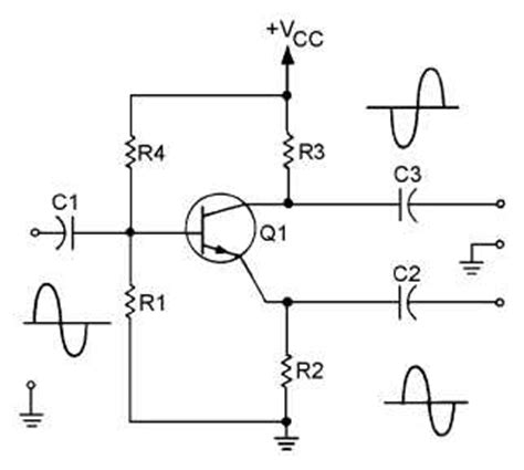 single stage transistor lifier theory figure 1 27 single stage transistor phase splitter