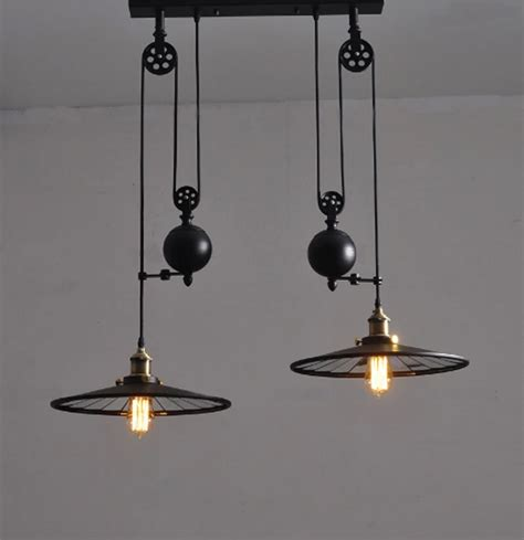 Wrought Iron Kitchen Light Fixtures with Kitchen Industrial Vintage L With Wheels Retro Black Wrought Iron Chandelier E27 Led Home