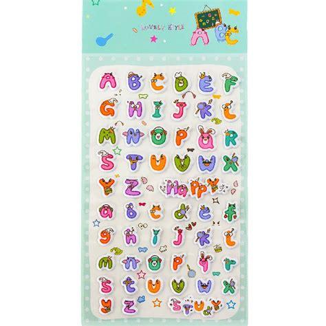 Buchstaben Aufkleber Basteln by 52 Abc Alphabet 3d Sticker Aufkleber Set Buchstaben