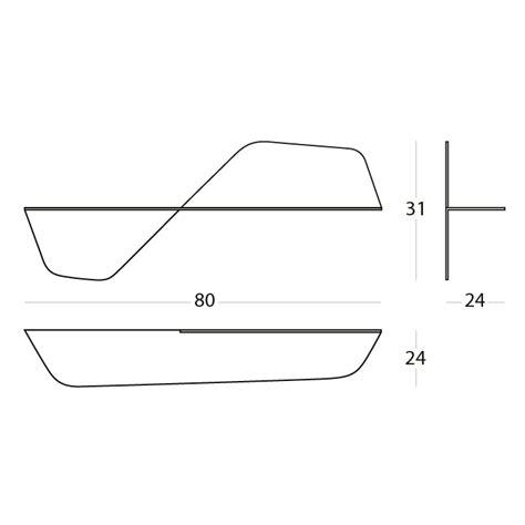 mensola alluminio mensola in alluminio di design flap arredas 236