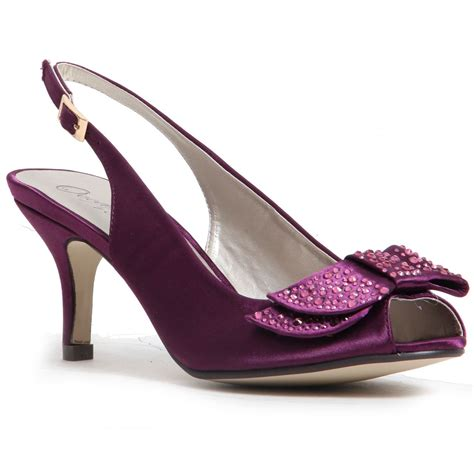 Women Ladies Satin Low Heel Shoes, Church party occasion