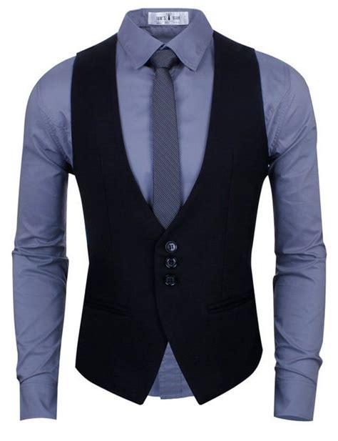 de moda blazer azul marino camisa de vestir blanca pantalon de chaleco negro camisa azul corbata girs camisas para