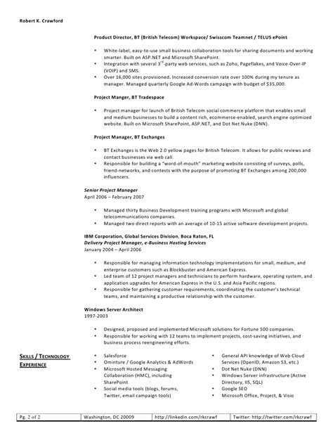 robert web resume