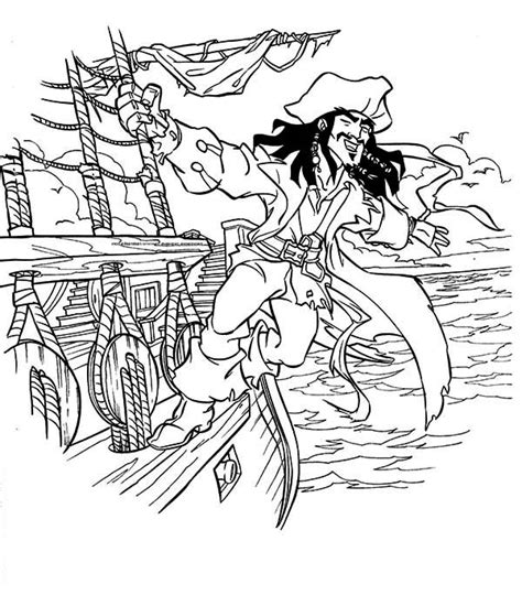 10 images of pirates of the caribbean ship coloring pages