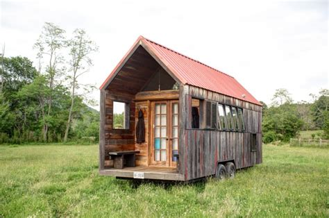 lloyd s tiny home of recycled materials on trailer