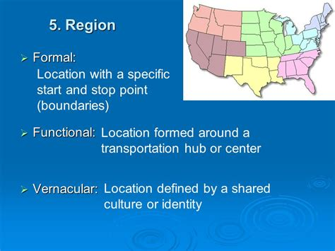 5 themes of geography vernacular region 5 themes of geography ppt download