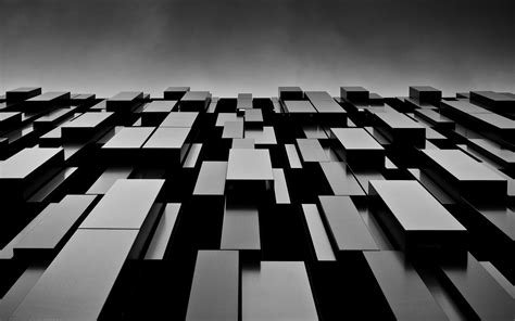 black and white contemporary wallpaper abstract black blocks shapes monochrome modern hd wallpapers