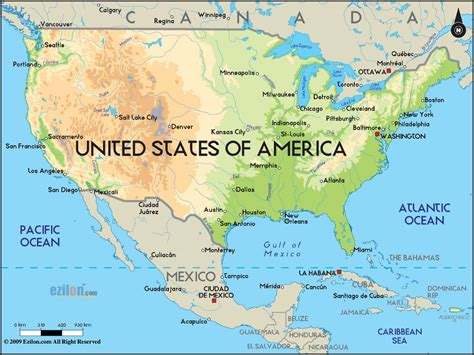 map usa big cities large physical map of the united states with major cities