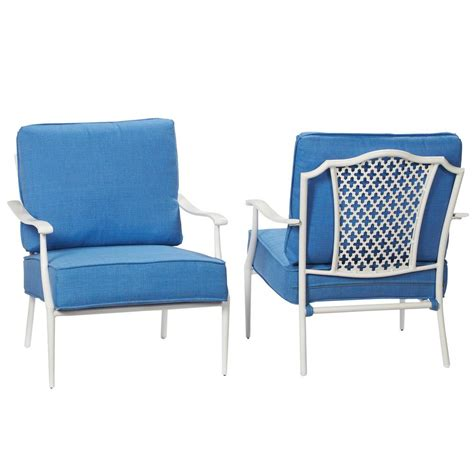 Hampton Bay Alveranda Stackable Metal Outdoor Lounge Chair