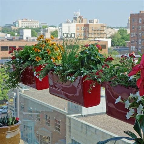balcony railing planters best 25 railing planters ideas on window boxes summer flowers for hanging baskets