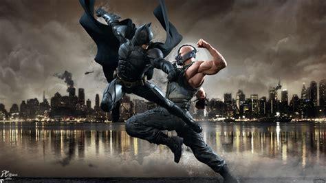 wallpaper batman vs bane batman vs bane by davidcdesigns on deviantart