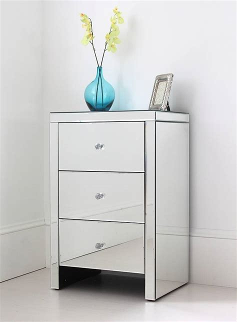 nachtkonsole spiegel mirrored side tables with drawers target mirrored