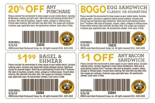 einstein bagels coupon nov 2018