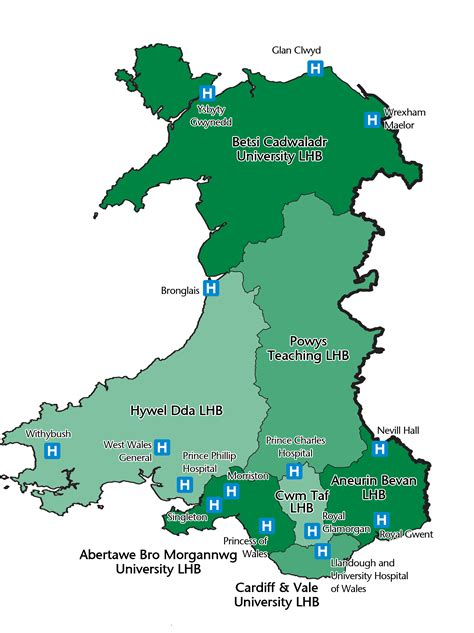 map of wales wales locations map dental postgraduate and