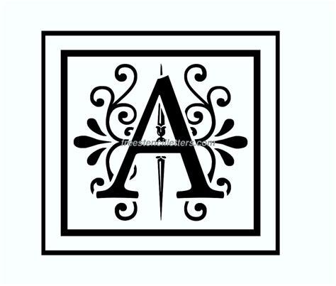 free printable monogram letter stencils template