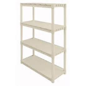 Lowes Plastic Shelving by Shop Plano 56 25 In H X 34 25 In W X 14 25 In D 4 Tier