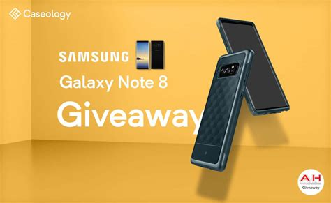 Samsung Galaxy Note 8 Giveaway - win a galaxy note 8 with caseology androidheadlines