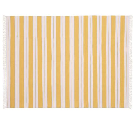 Yellow Striped Outdoor Rug Yellow Striped Outdoor Rug Outdoor Dhurrie Style Rug Yellow Rugby Stripe 7 6 Quot X 9 6 Quot