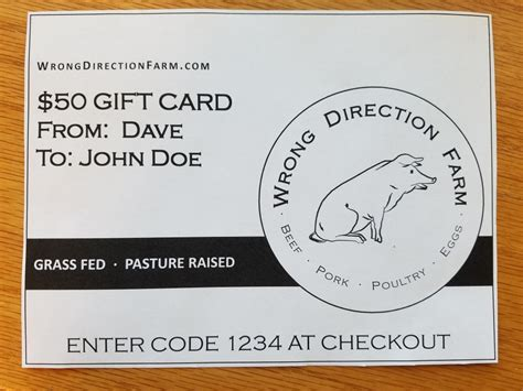 Graze Gift Card - grassfed and pasture raised meat and eggs delivered from our farm to upstate new york