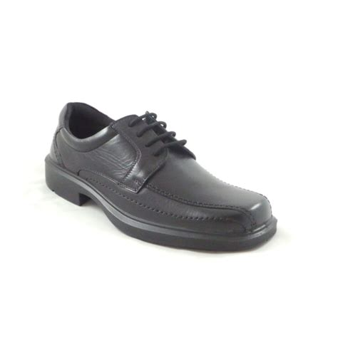 mens black leather lace up formal shoe from
