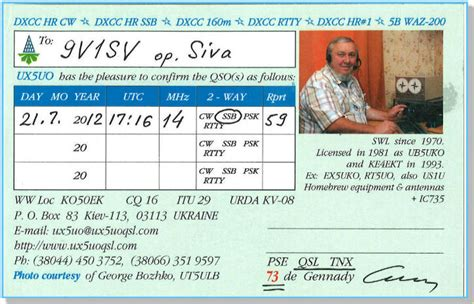 qsl cards template image my received qsl cards