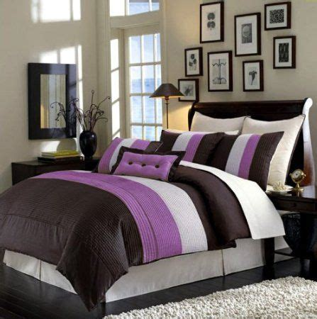 lavender and brown bedroom amazon com 8 pc luxury super set choco purple faux silk
