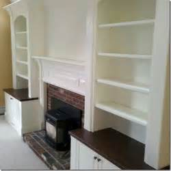 fireplace with built in bookshelves it looks like it