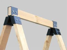 Null Steel Sawhorse Brackets Home 1000 Images About Folding Tables On Sawhorse