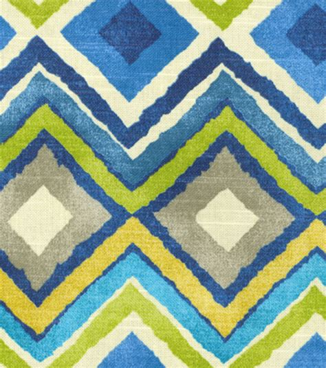 joann fabrics home decor home decor print fabric hgtv home like a diamond azure
