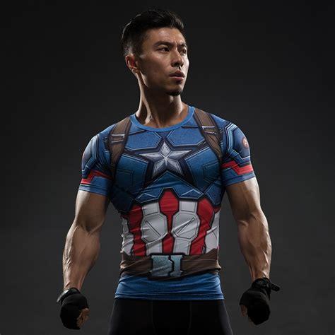 Baju Print Avenger Captain America t shirt captain america civil war 3d printed t shirts