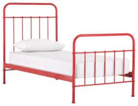 Toddler Bed Metal Frame Sunday Scarlet Bed Frame Eclectic Beds By