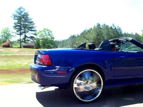 2004 convertible mustang on 24's youtube