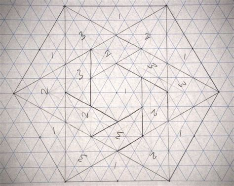 pattern of hexagonal numbers 10 best graph paper images on pinterest mandalas paper