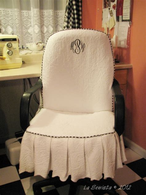 Office Chair Slipcover by La Sewista Office Chair Slipcover Completed
