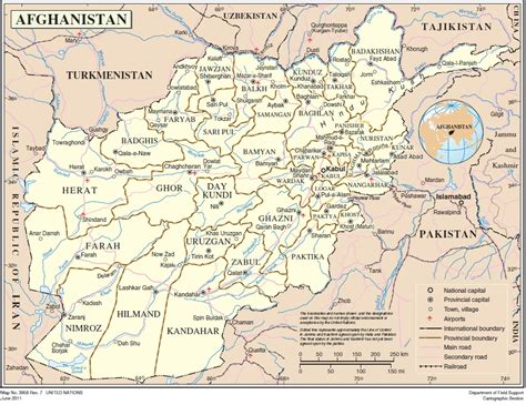 un cartographic section afghanistan