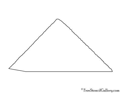 printable egyptian stencils pyramid 01 stencil free stencil gallery