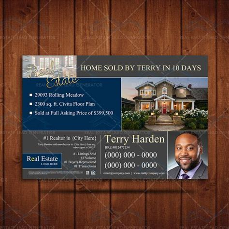 Custimazable Templates For Post Cards Real Estate by Instant Realtor Branding Postcard Real Estate