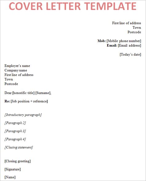 how to write covering letter with cv cover letter template uk