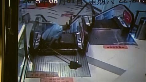 crushed by escalator china man has foot utated after being crushed by