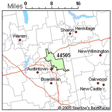 zip code map youngstown ohio best place to live in youngstown zip 44505 ohio