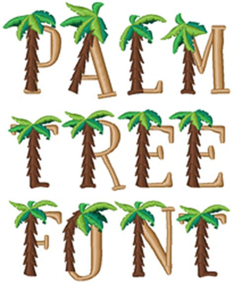 tree pattern font other serifs embroidery font palm tree font from concord