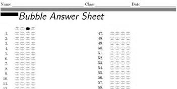 template for choice questions tables how to generate a dynamic answer sheet for