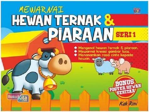 Buku Anak Seri Mengenal Hewan bukukita mewarnai hewan ternak piaraan seri 1