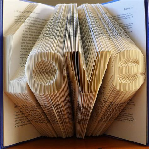Paper Anniversary LOVE Folded Book Sculpture Book