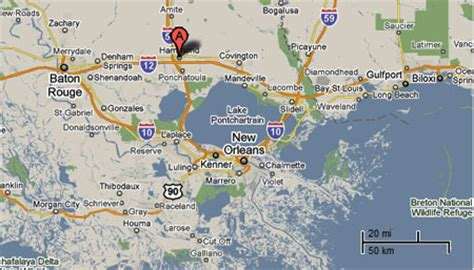 louisiana map hammond sighting reports 2010