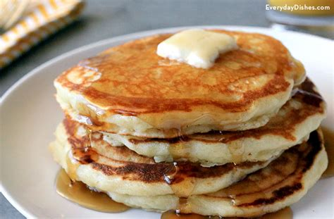fluffy homemade pancakes recipe