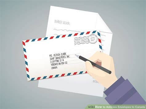 Post Office Address Finder By Name Easy Ways To Address Envelopes To Canada Wikihow